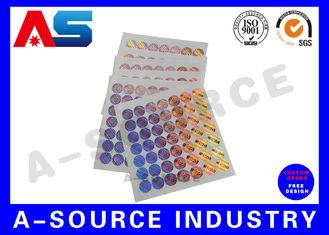 Tamper Evident 3D Custom Holographic Stickers for steroid label box packaging
