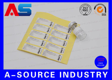 Adhesive Anti-Fake Paper 2ml Stickers For Somatropin DNA Origin Sterial Water Injection Vials