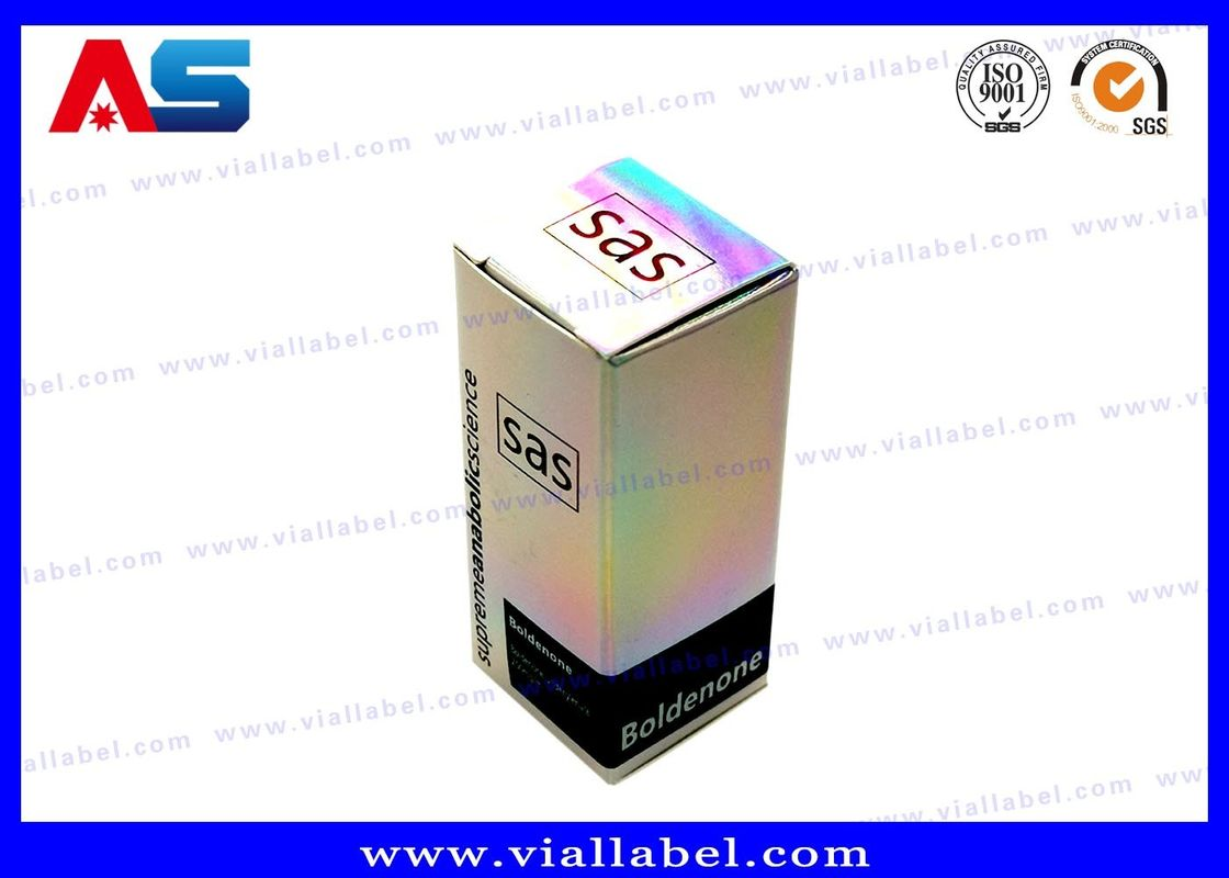 กล่องบรรจุขวดเล็กโฮโลแกรมขนาด 10 มล. / กล่องบรรจุภัณฑ์ยาที่เป็นมิตรกับสิ่งแวดล้อม